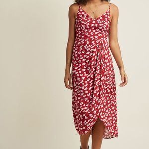 Modcloth Red Floral wrap dress NWT! size Xs and S